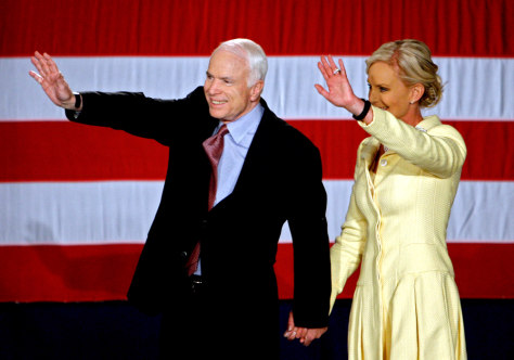 IMAGE: John McCain and his wife, Cindy