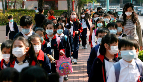Image Flu outbreak in Hong Kong