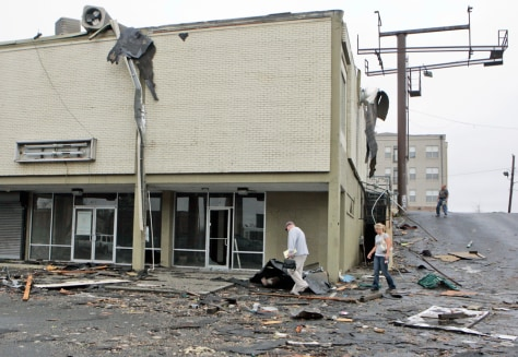 Image: cleanup from a possible tornado
