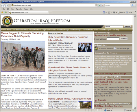 Image: Operation Iraqi Freedom website