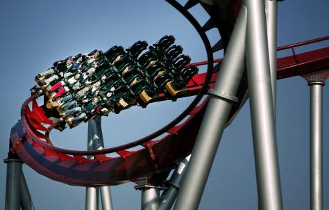Image: Rollercoaster in the Tivoli Gardens in Copenhagen, Denmark
