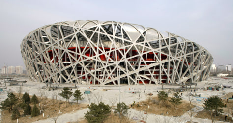 "Image: The National Stadium,""Bird's Nest,"" in Beijing"