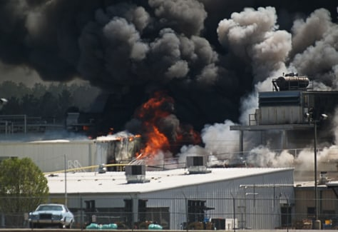 Image: meat packing plant explosion