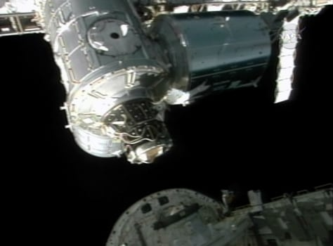 Shuttle undocks from ISS
