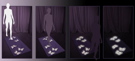 Image: Electroluminescent flooring