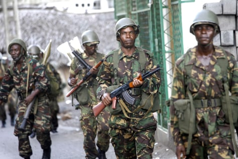 Image: Tanzanian African Union troops in Anjouan, Comoros