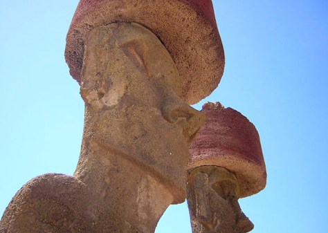 Image: East er Island Statue, right earlobe stolen