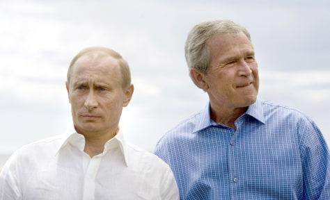 Image: Vladamir Putin and George W. Bush