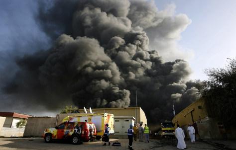 Image: Smoke billows