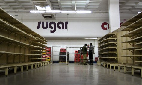 Image: Empty supermarket in Zimbabwe