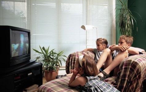 Image: Children watching TV