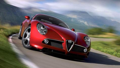 Image: Alfa Romeo 8C Competizione sports car