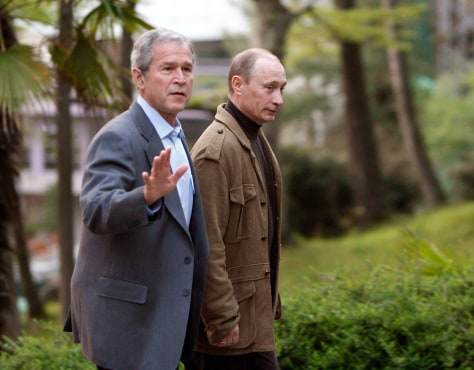 Image: Bush and Putin