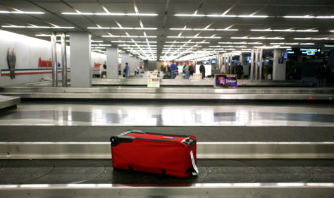 Image: A lone travel bag