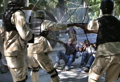 Image: Haiti food protests