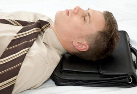 Image: Sleeping coworker