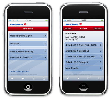Image: Bank of America Mobile Banking