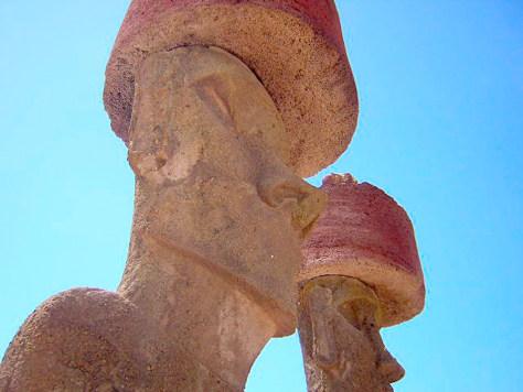 Image: Easter Island moai ear