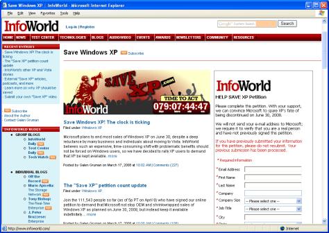 Image: SaveXP.com Web site