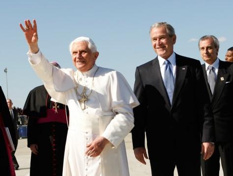 Image:Pope Benedict XVI, President Bush