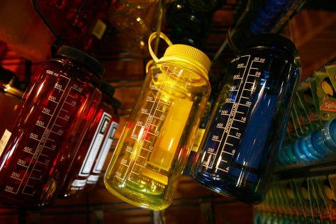 Image: Nalgene brand water bottles