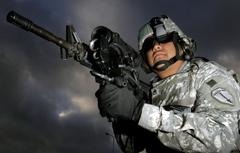 Image: Soldier with M4 rifle