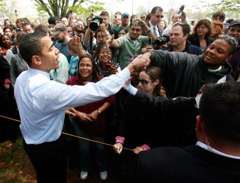 Image: Sen. Barack Obama campaigning in Pennsylvania