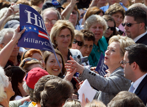 Image: Senator Hillary Rodham Clinton campaigning