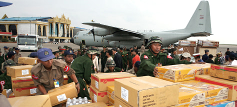 Image: Aid supplies in Myanmar