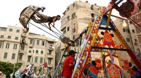 Image: The spring feast of Sham el Nesim in Alexandria, Egypt