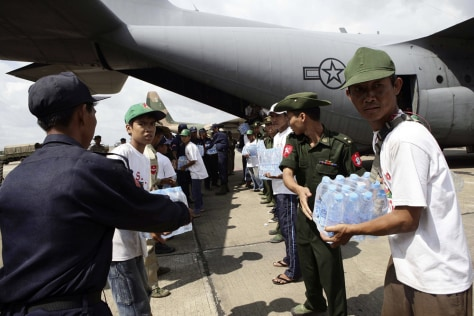Image: U.S. aid arrives in Yangon, Myanmar