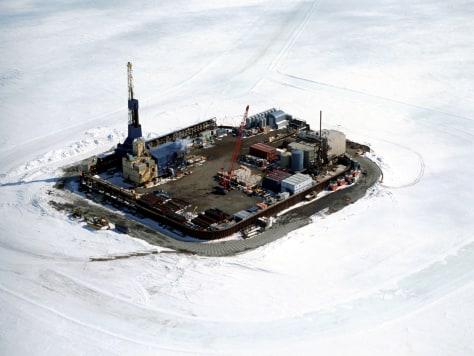 IMAGE: NORTHSTAR OIL ISLAND OFF ALASKA