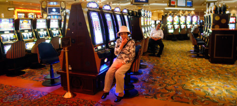 Image: Lonely slot player