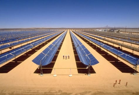 Image: Solar panels in desert