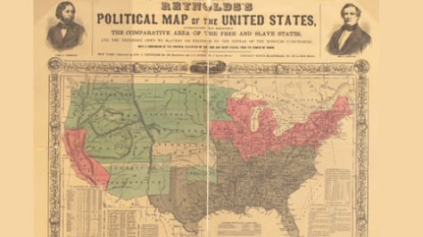 Map Of Us 1800s.1800s 1850s Expansion Of Slavery In The U S Us News Gut Check