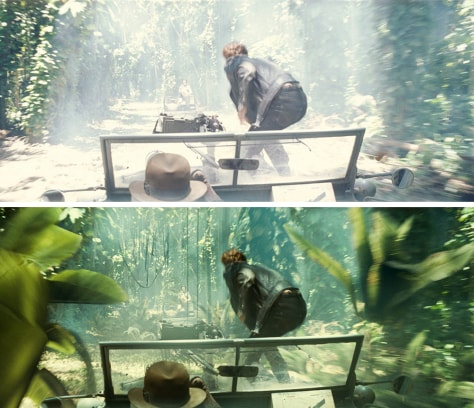 Image: Special effects in Indiana Jones movie
