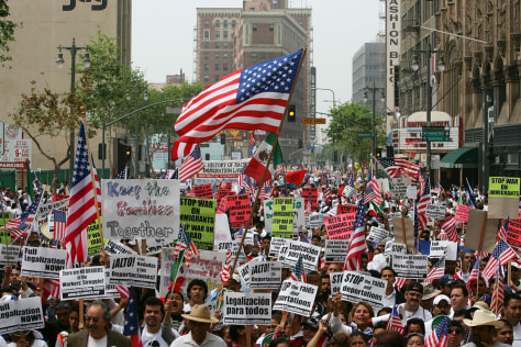 Image: Immigrants Hold Marches Across U.S. On May Day