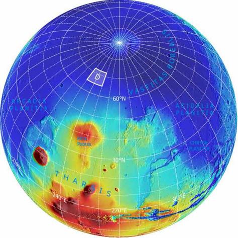 Image: Globe of Mars