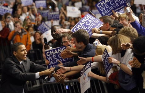 Image: Barack Obama campaigning in Nebraska
