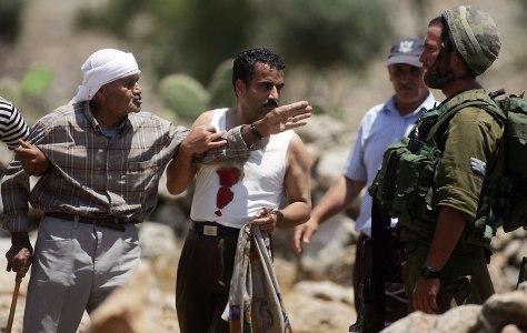 Image: Palestinian demontrators