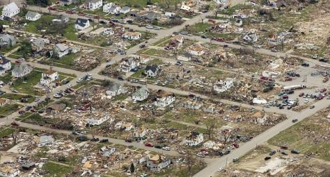 Image: Aerial view of Parkersburg, Iowa