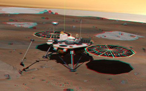 Image: 3-D illustration of Phoenix Mars Lander
