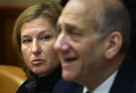Image: Tzipi Livni and Ehud Olmert
