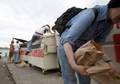 Image: For Rebecca, browsing Dumpsters also is a way to protest the country's rampant consumer culture.