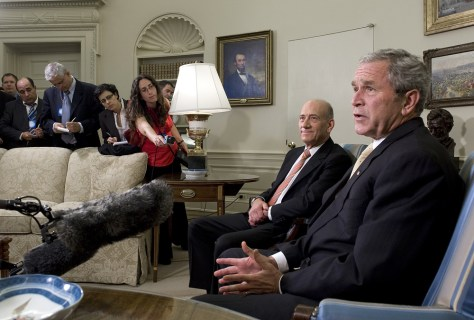 Image: Olmert and Bush