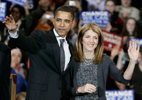 Image: Barack Obama and Caroline Kennedy