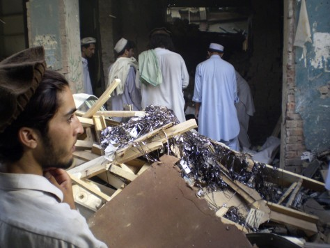 Image: Damaged video shop in Miranshah, Pakistan