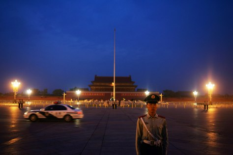 Image: Security at Tiananmen Square in Beijing