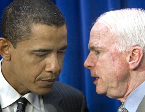 Image: Barack Obama, John McCain