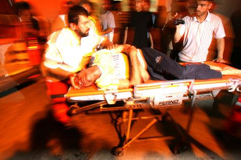 Image: Injured civilian in Gaza
